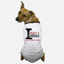 I Need a Cure Diabetes Dog T-Shirt