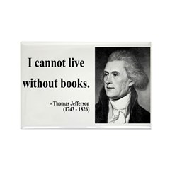 Thomas Jefferson 27 Rectangle Magnet