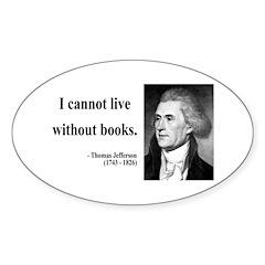 Thomas Jefferson 27 Oval Decal