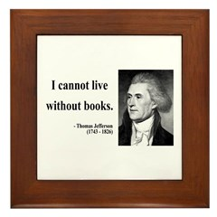 Thomas Jefferson 27 Framed Tile