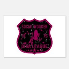 Social Worker Diva League Postcards (Package of 8)