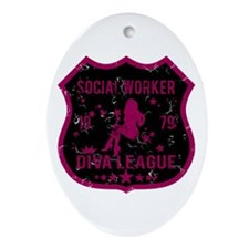 Social Worker Diva League Oval Ornament