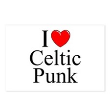 """I Love (Heart) Celtic Punk"" Postcards (Package of"