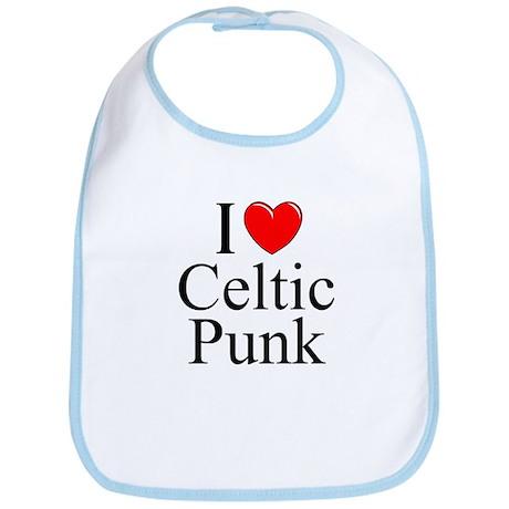 """I Love (Heart) Celtic Punk"" Bib"