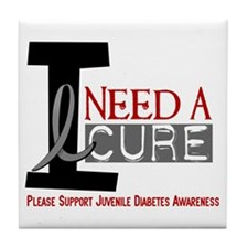 I Need A Cure JUVENILE DIABETES Tile Coaster