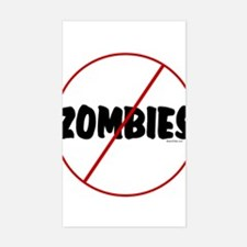 No Zombies Rectangle Decal
