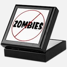 No Zombies Keepsake Box