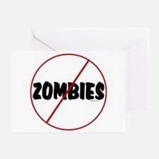 No Zombies Greeting Cards (Pk of 10)
