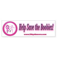 Save the BoobiesBumper Bumper Bumper Sticker