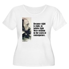 """Tennyson """"Right Is Right"""" T-Shirt"""