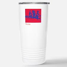 red/blue rower Stainless Steel Travel Mug