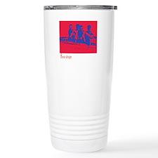 red/blue rower Travel Mug