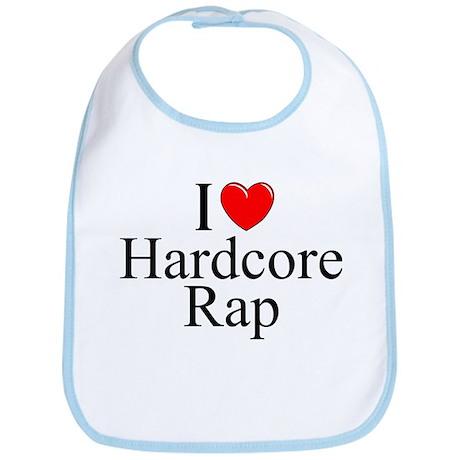 """I Love (Heart) Hardcore Rap"" Bib"