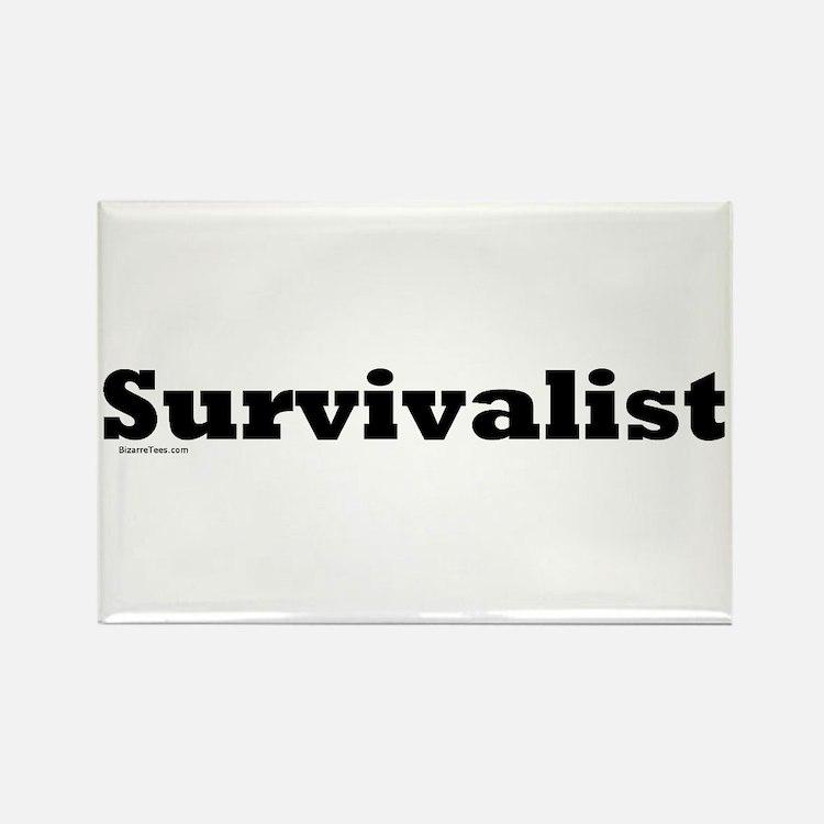 Survivalist Rectangle Magnet