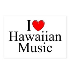 """I Love (Heart) Hawaiian Music"" Postcards (Package"