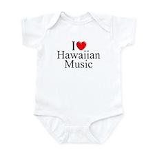 """I Love (Heart) Hawaiian Music"" Infant Bodysuit"
