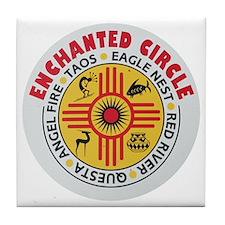 New Mexico's Enchanted Circle Tile Coaster