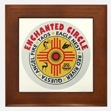 New Mexico's Enchanted Circle Framed Tile