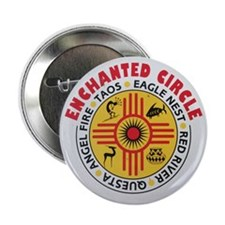 "New Mexico's Enchanted Circle 2.25"" Button"