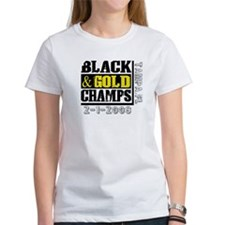 Black and Gold Champs Tee