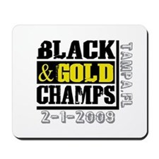 Black and Gold Champs Mousepad