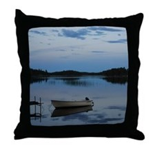 Twilight over the lake Throw Pillow