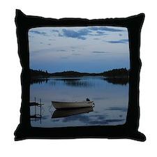 Twilight over the lake Throw Pillow