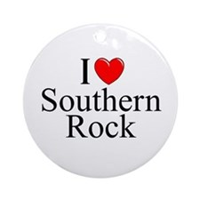 """""""I Love (Heart) Southern Rock"""" Ornament (Round)"""