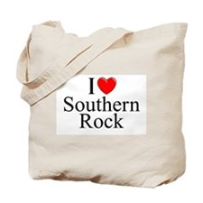 """I Love (Heart) Southern Rock"" Tote Bag"