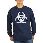 Biohazard Symbol Long Sleeve Dark T-Shirt