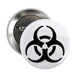 """Biohazard Symbol 2.25"""" Button"""