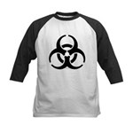 Biohazard Symbol Kids Baseball Jersey