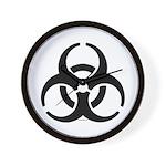 Biohazard Symbol Wall Clock