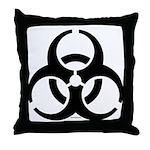 Biohazard Symbol Throw Pillow
