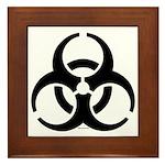 Biohazard Symbol Framed Tile