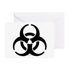 Biohazard Symbol Greeting Cards (Pk of 10)