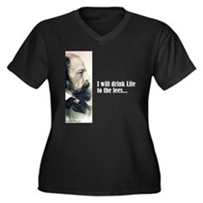 "Tennyson ""Drink Life"" Women's Plus Size V-Neck Dar"