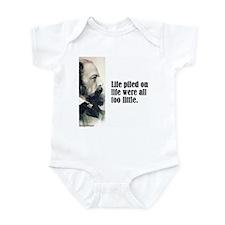 "Tennyson ""Life Piled"" Infant Bodysuit"