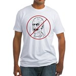 No Zombies Fitted T-Shirt