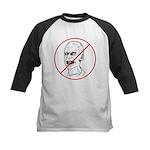 No Zombies Kids Baseball Jersey