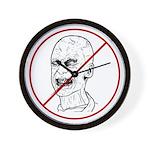 No Zombies Wall Clock