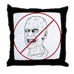 No Zombies Throw Pillow