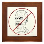 No Zombies Framed Tile