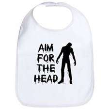 Aim For The Head Zombie Bib
