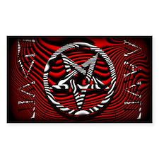 HAIL EVIL Pentagram Red ~ Evil Decal