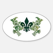 Fleur and Thistle Oval Decal