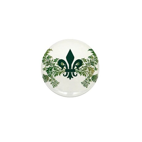 Fleur and Thistle Mini Button (100 pack)