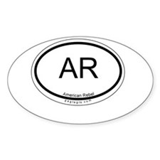 American Rebel Oval Decal