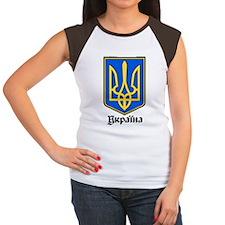 Ukraine: Heraldic Women's Cap Sleeve T-Shirt