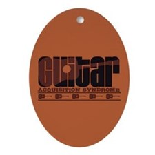 G.A.S. Acoustic Rust Oval Ornament